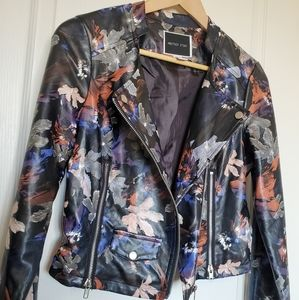 ANOTHER STORY Floral Moto Jacket